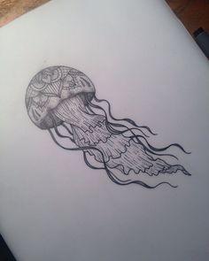 Jelly Fish Tattoo by Medusa Lou Tattoo Artist - medusaloux@outlook.com Knee Tattoo, 1 Tattoo, Tattoo Drawings, Unique Tattoo Designs, Tattoo Designs For Women, Unique Tattoos, Time Tattoos, Body Art Tattoos, Underwater Tattoo