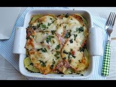 Parmigiana bianca melanzane e patate, light senza besciamella - YouTube