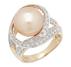 14K Yellow Gold Golden South Sea Ring $1599.98 AT THE SHOPPING CHANNEL.COM
