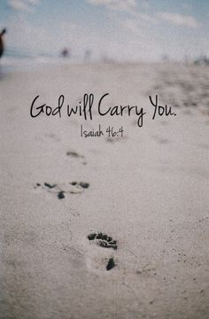God will carry you tattoo