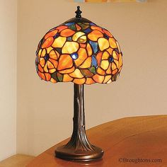 Interiors 1900 Josette Small Tiffany Table Lamp: The Josette Small Table Lamp, has a wonderful traditional tiffany style. Table Lamps Uk, Tiffany Table Lamps, Interior Design Living Room, Living Room Designs, Art Nouveau, Shops, Home Lighting, Stained Glass, Interiors