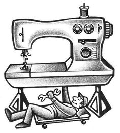 Sewing Vintage Sewing Machine Repair - Common problems with stitches, threading, tension and bobbins! Sewing Basics, Sewing Hacks, Sewing Crafts, Sewing Diy, Techniques Couture, Sewing Techniques, Pach Aplique, Sewing Machine Repair, Sewing Machine Tension