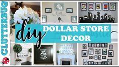 Dollar Store DIY Decor Ideas - YouTube Dollar Store Mirror, Dollar Store Bins, Dollar Store Crafts, Dollar Stores, Diy Mirror Decor, Diy Dorm Decor, Home Decor, Wall Decor, Wall Art