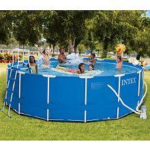 R pool  Intex 15 foot X 48 inch Metal Frame Pool Set - Intex Recreation ...