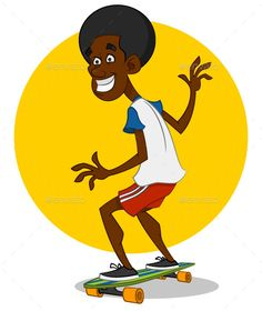 Man rides a longboard. Vector illustration. Formats: EPS 10, png, jpg, gif. Extreme sport and active recreation.