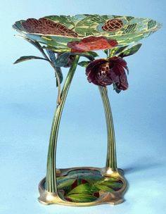 Vase by Bohemian goldsmith Gustav Gaudernack {1904}