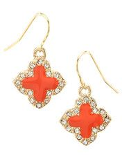 Coral Clover Earrings - Modeets.com