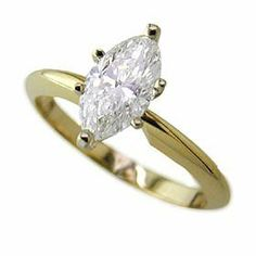 .30ct Marquise Cut Diamond Solitaire I Color SI1 Clarity Appraisal Included Gold and Diamond Source. $990.00