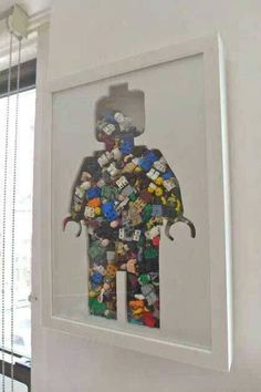 I should do this! hang it in the hallway and fill it with Lego that's left on the floor throughout the house, wouldn't take long to fill it!