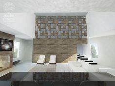 Sala de estar ampla com pé direito duplo. Foram escolhidos materiais rústicos, como a madeira, e tecidos naturais de cor clara. O resultado é um ambiente muito claro e aconchegante.