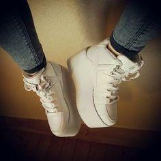 Munigrrrl with the Alliance Platform Sneaker in White (http://www.nastygal.com/product/alliance-platform-sneaker-white)