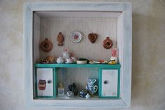 Amazing kitchen diorama... possible use for all my tiny dollhouse dishes???