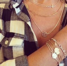Pair your favorite #Providence Collection bracelets and necklaces! #gold #silver #bangles #alexandani