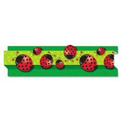 "Pop-It Border, Ladybugs, 3"" X 24', 8 Strips/pack"