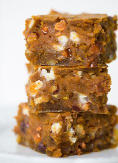 Pumpkin Blondies - Table for Two