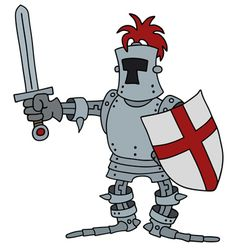 The funny knight with a sword Sword, Knight, Military, Cartoon, Funny, Funny Parenting, Cartoons, Hilarious, Cavalier
