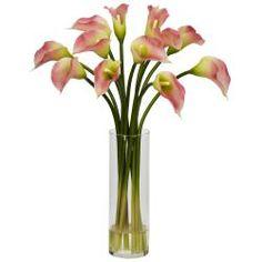 Silk 20-inch Mini Calla Lily Flower Arrangement