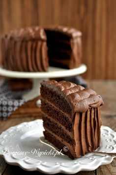 Tort czekoladowy Mary Berry, Bakery Cakes, Polish Recipes, Amazing Cakes, Chocolate Cake, Sweet Recipes, Cupcake Cakes, Food And Drink, Tasty