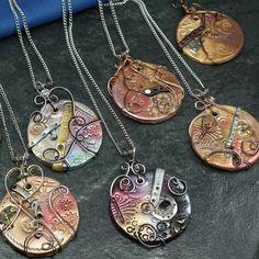 Steampunk Clay Pendant/Ornament   JewelryLessons.com