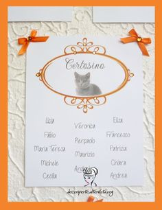 """CATS"" WEDDING THEME - Seating Plan + Place Cards - TABLEAU MARIAGE TEMA ""I GATTI"" E SEGNAVOLO -"