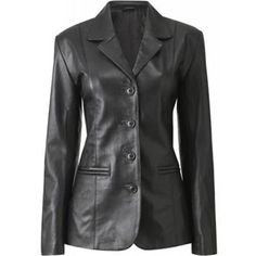 Womens Haena Leather Coat