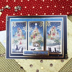Card created using Hunkydory Crafts' O Little Town of Bethlehem Topper Set from the Seasonal Style Topper Collection
