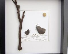 Scottish pebble art picture: swing by PebblePictures on Etsy
