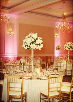 centerpieces of varying heights