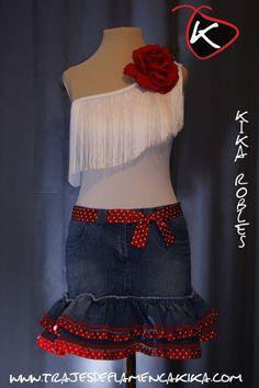 Resultado de imagen de falda flamenca para niña