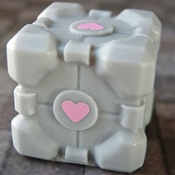 Companion Cube Soap: if only they had cake....