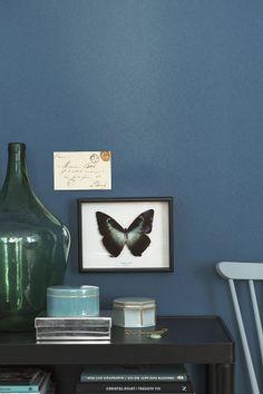 blue wallpaper. new collection by borastapeter. via solrum: måla med tapet.