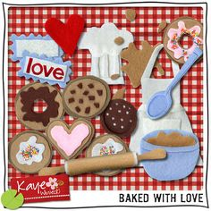 Digi-Scrapping Recipes – The Daily Digi Italy Party, Baking Birthday Parties, Quiet Book Patterns, Recipe Scrapbook, Recipe Binders, Card Book, Scrapbook Cards, Scrapbooking, Love Craft