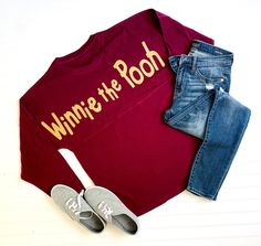 Winnie the Pooh Disney Disneyland Disney World Jersey Shirt, Pooh Bear Pot of Honey Oh Bother Disney Jersey Shirt Cute Disney Outfits, Disney Themed Outfits, Cute Outfits, Fraternity Collection, Thing 1, Spirit Jersey, Disney Shirts, Jersey Shirt, Victorian Fashion
