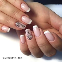 Neutrality is not synonymous with beige. Just because nail manicures aren't bold, like dark acrylic nails or ornately decorated high heel nails, doesn't mean they… Nail Manicure, Diy Nails, Love Nails, Pretty Nails, Henna Nails, Mandala Nails, Finger Nail Art, Nail Decorations, Stylish Nails