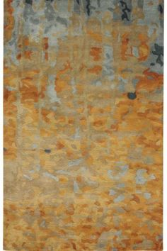 Watercolor Area Rug 8'x11' GOLD