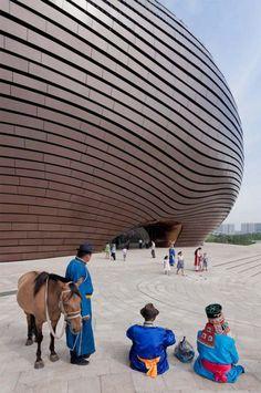 MAD設計の「The Art and City Museum」が内モンゴル自治区・オルドスに完成の画像がシュール | A!@attrip