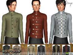 ekinege's Fratres - Steampunk Military Jackets - Set102