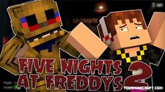Five Nights At Freddy's 2 Mod brings the original Five Nights At Freddy's 2 into Minecraft. This mod adds in almost all the animatronics from the game into