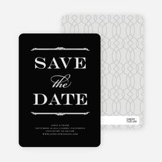 Classic Type Save the Date Cards from Paper Culture