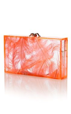 Pandora Feather Clutch by Charlotte Olympia for Preorder on Moda Operandi