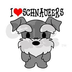 i love schnauzers   ... > Animal Water Bottles > I Love Schnauzers Sigg Water Bottle 0.6L