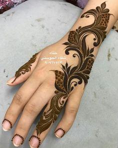 Pretty Henna Designs, Modern Henna Designs, Henna Designs Feet, Floral Henna Designs, Latest Henna Designs, Finger Henna Designs, Back Hand Mehndi Designs, Mehndi Designs Book, Mehndi Designs For Girls