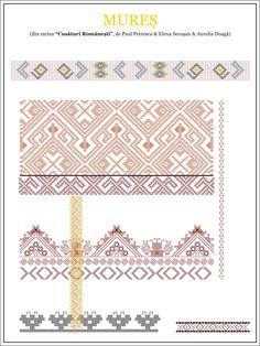 Cute Embroidery, Learn Embroidery, Embroidery Patterns, Cross Stitch Patterns, Knitting Patterns, Ethnic Tattoo, Tribal Tattoos, Wedding Album Design, Diy Upcycling