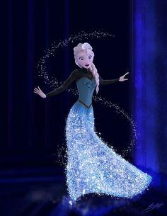 elsa frozen | Elsa Frozen Flying Art