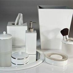 Essentials Pure Enamel Silver Trim Bath Accessories Gracious Style