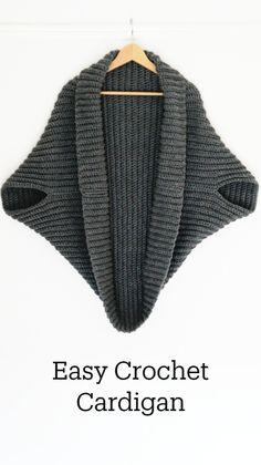 Crochet Hook Sizes, Crochet Hooks, Crochet Baby, Knit Crochet, Beginner Crochet Projects, Crochet Cardigan, Learn To Crochet, Crochet Fashion, Knit Patterns