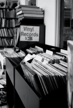 Best place to spend an afternoon, going through the vinyl......