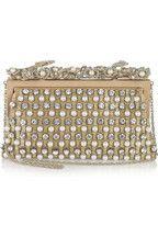 Valentino|Embellished satin shoulder bag|