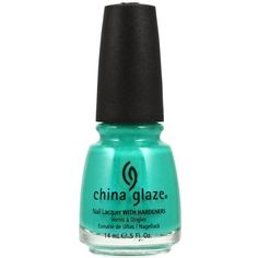 My new fav polish China Glaze Turned Up Turquoise