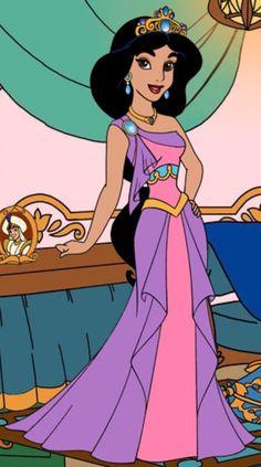 Jasmine of Agrabah by unicornsmile on DeviantArt Disney Princess Facts, Disney Fun Facts, Disney Princess Fashion, Disney Princess Jasmine, Disney Princess Drawings, Princess Art, Disney Fashion, Disney Cartoon Characters, Disney Cartoons